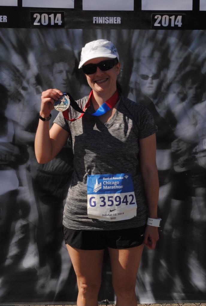 Still standing after the marathon. Success.